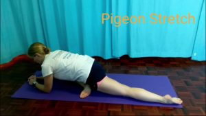 hip flexibility exercises for runners: Pigeon Stretch.