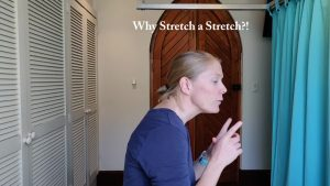 Sitting causes the upper back to be hunched and chin to be pokey.