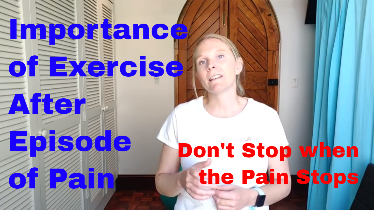 Importance of Exercise AFter Pain