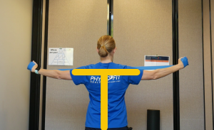 Shoulder Blade Strengthening Workout: T-Shape. This is how it should be done.