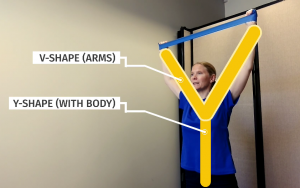 Shoulder Blade Strengthening Workout: Y-Shape. This is how it should be done.