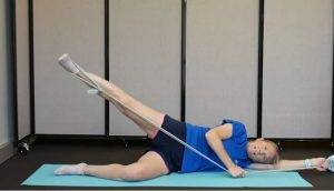 Hip Strengthening Exercises with Resistance Bands: Lift and Lower