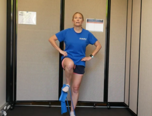 Resistance Band Leg Exercises while Standing: Marching