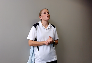 Best Exercises for a Tight Lower Back using a Massage Ball: Variation #1: Hold & Breathe