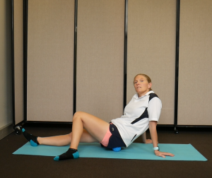 Best Glutes Exercises using a Massage Ball: Hip Rotations