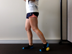 Three Options for a Foot Massage with a Ball: Exercise #3: Stepping with Heel on the Ball