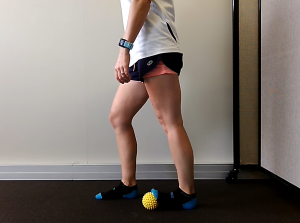 Three Options for a Foot Massage with a Ball: Exercise #2: Stepping with Toes on the Ball