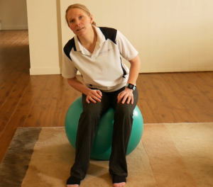 How To Do Gym Ball (swiss or fit ball) Exercises for Beginners: Exercise #1/Option #3: Circles