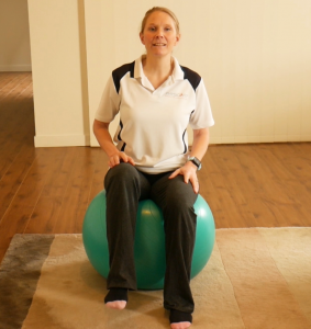 How To Do Gym Ball (swiss or fit ball) Exercises for Beginners: Exercise #3: Sit on the Ball - Add Leg Movement