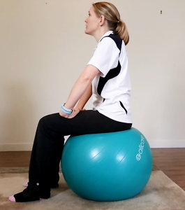 How To Do Gym Ball (swiss or fit ball) Exercises for Beginners: Exercise #1: Sit on the Ball
